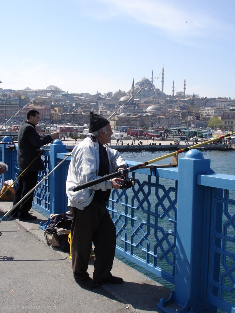 On one of the Bosphorus bridges of Istanbul