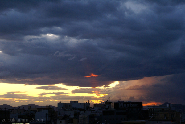 Sunset in Ilioupolis