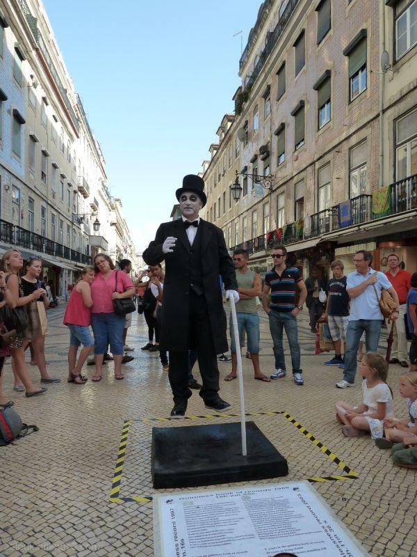In Rossio square, Lisbon
