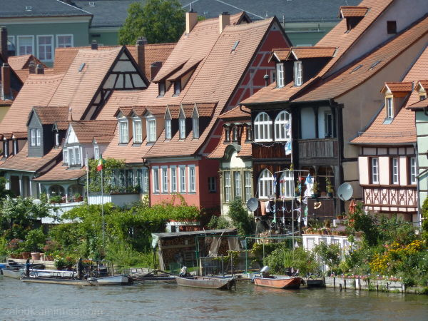 A view of the Bamberg river houses