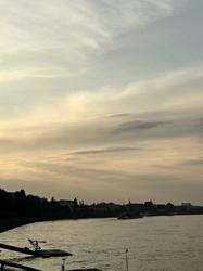 Sunset by the Rhein
