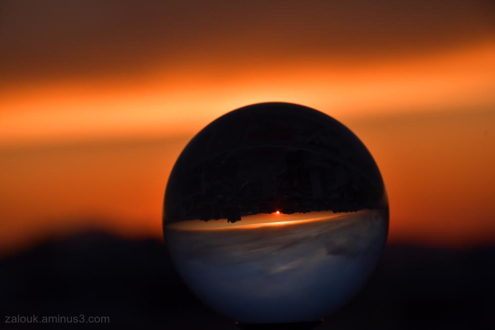 Crystal ball sunset II