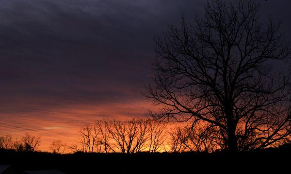 Sunset in February