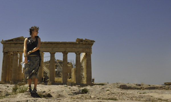 Girl in the Acropolis