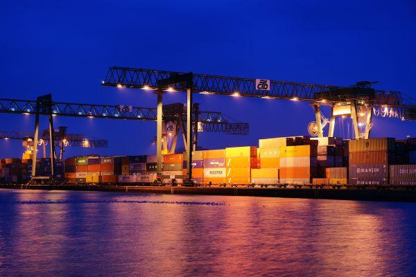 Cranes in Dortmund habor