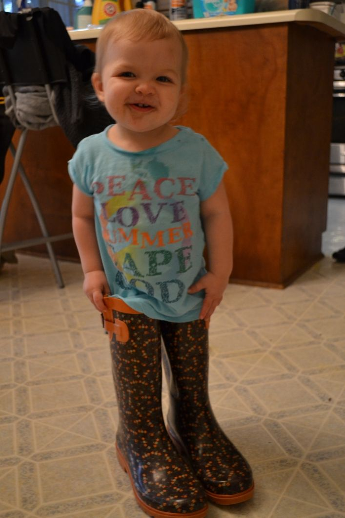 Mommy's Boots and Chocolate Candy
