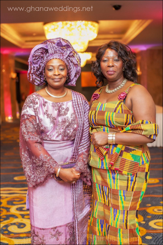 proud mothers of ghana and nigerian bride & groom