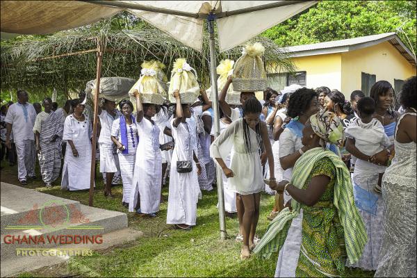 Groom Family arrival Ho Ewe Wedding Ceremony Ghana