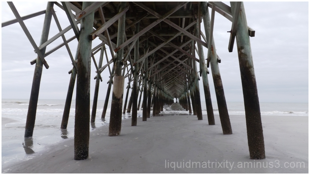 Pier in Whiteout