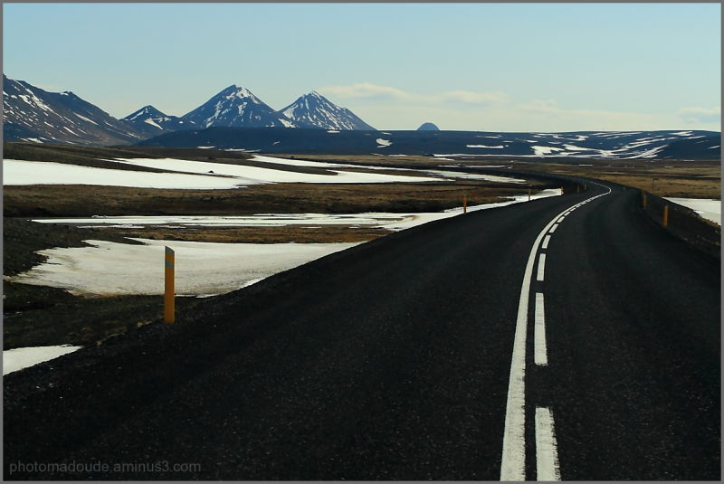 Icelandic desert road