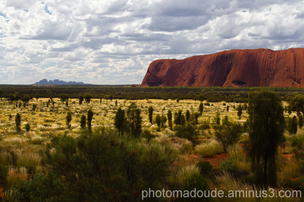 View of Kata Tjuta and Uluru