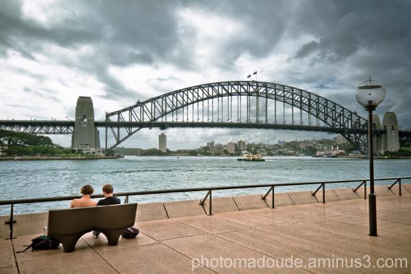 View on Sydney Bay and the Harbor Bridge