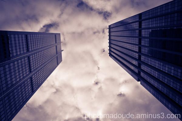 Building, City, Sydney, Australie, nuages