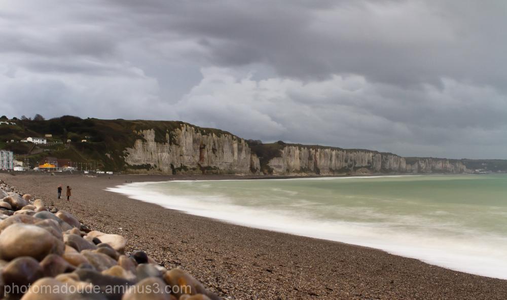 Vue sur les falaises de la plage de Fécamp