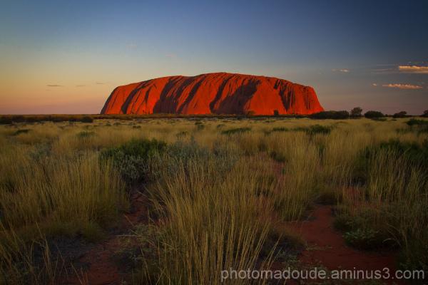 Dans le desert australien, Uluru!