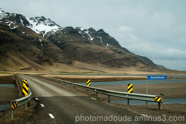 Sur la route qui longe le glacier Vatnajökull