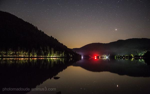 Lumières sur le lac de Longemer