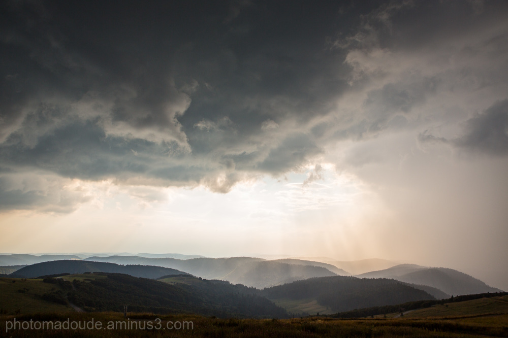 Brume sur les Vosges