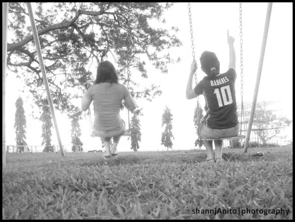girls in the swing