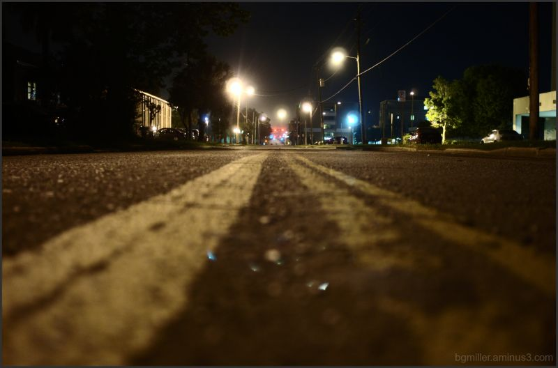 Downtown Pensacola, FL at night