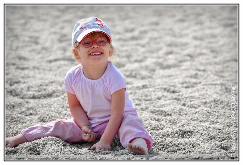 Jeu d'enfant, à la plage