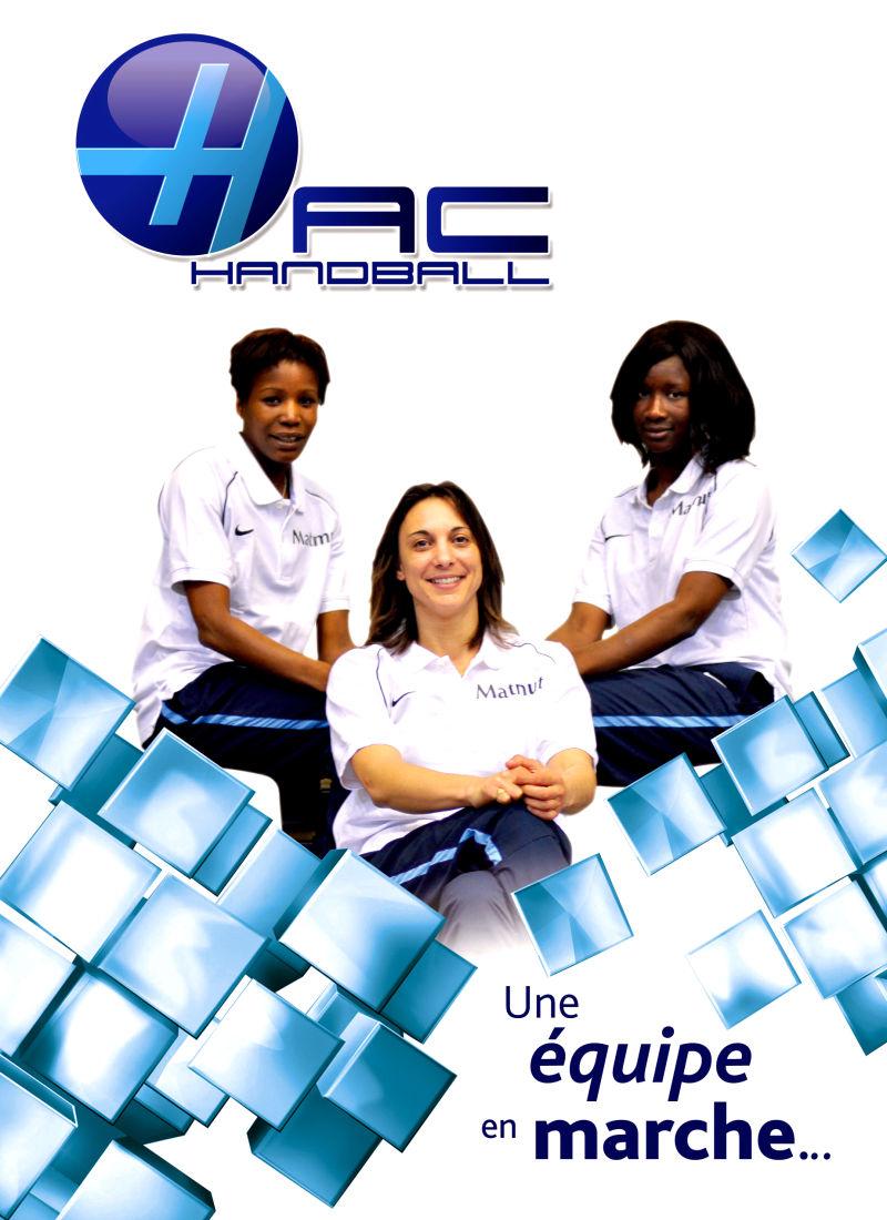 HAC Handball féminin LFH Vanparys Sawaneh Tounkara
