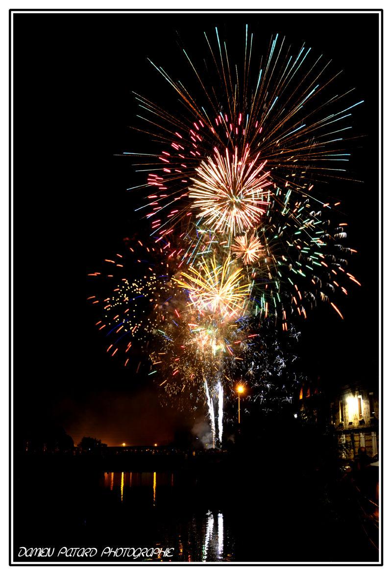 Harfleur fête nationale feux d'artifice Havre