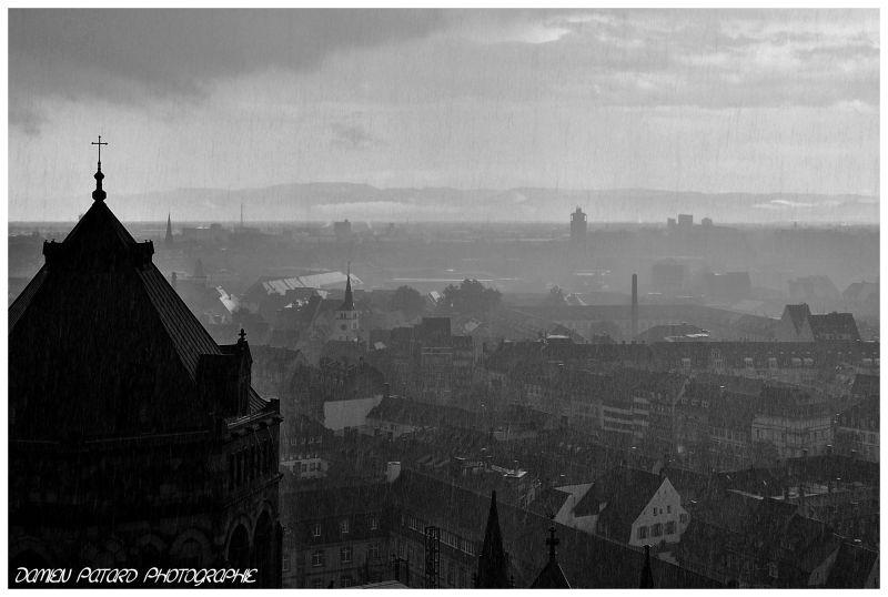 Verlaine, Strasbourg, pluie, pleure, coeur, ville