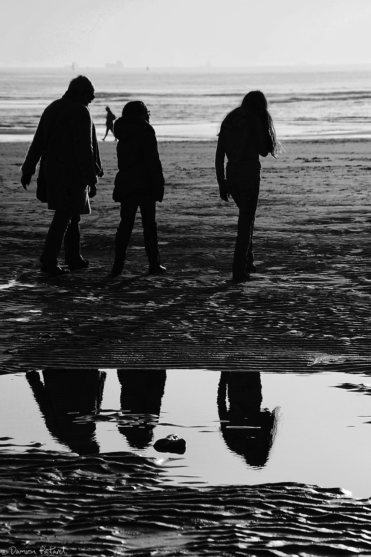 plage havre beach ombre reflet eau mer