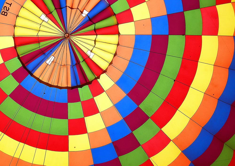 turquie montgolfière mosaïque couleurs ballon