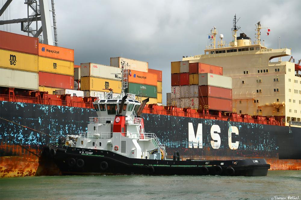 MSC, porte-conteneurs, Havre, remorqueur, bateaux