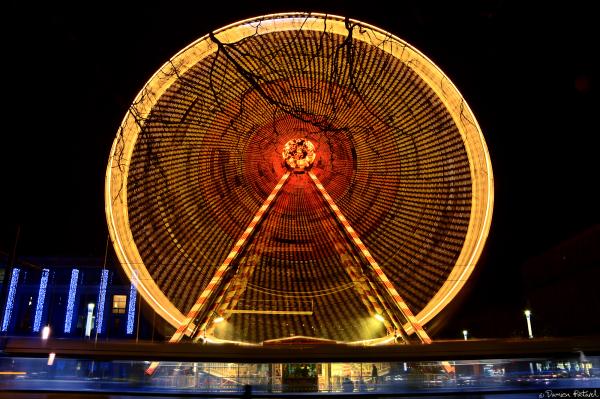 Havre, roue, grande, tramway, noël, illuminations
