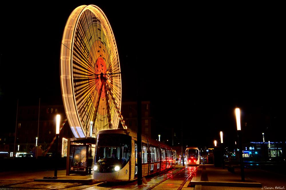 Havre, roue, grande, tramway, inauguration, CODAH