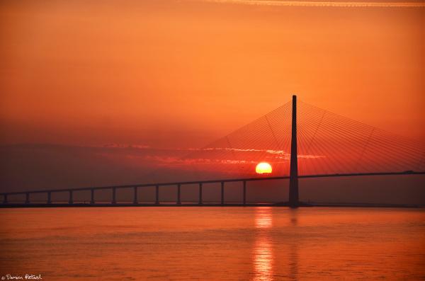Honfleur, pont de Normandie, Le Havre, Normandie