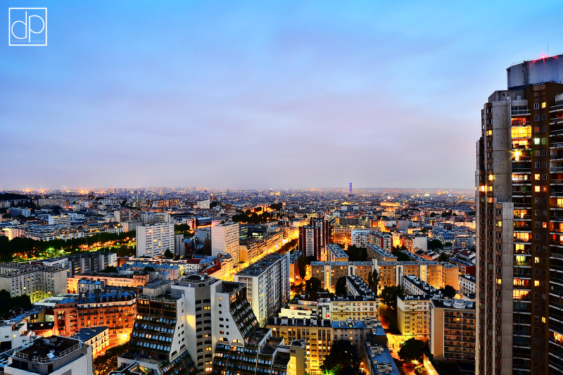 paris orgues flandre vue panoramique nuit lumières