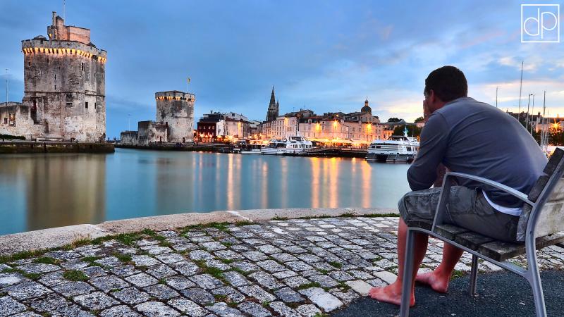 tours rochelle vieux port autoportrait crépuscule