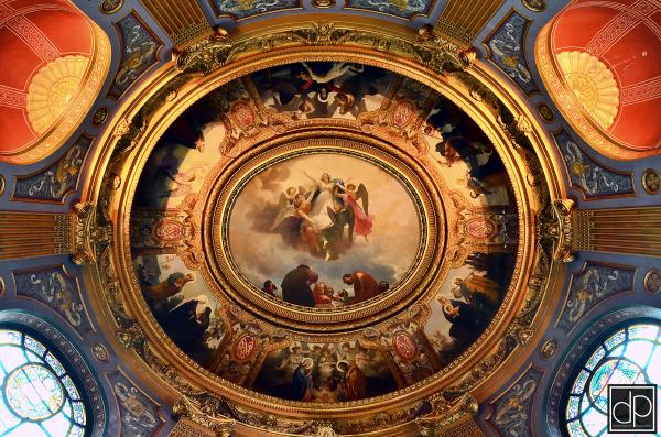 plafond chapelle vierge cathédrale larochelle