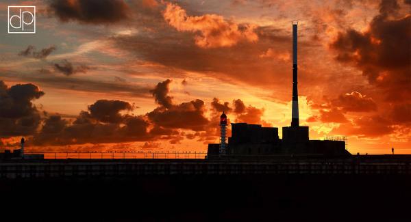 Le Havre, LH, digue nord, sunset, ciel, soleil