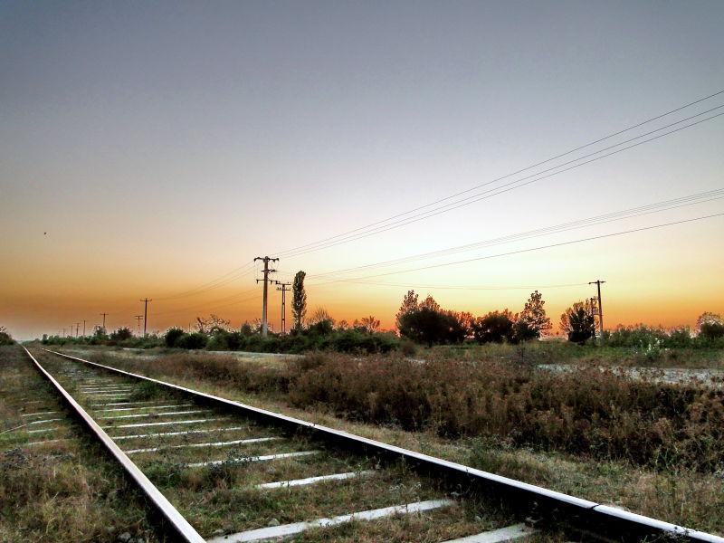 railway to Gorgan,Iran