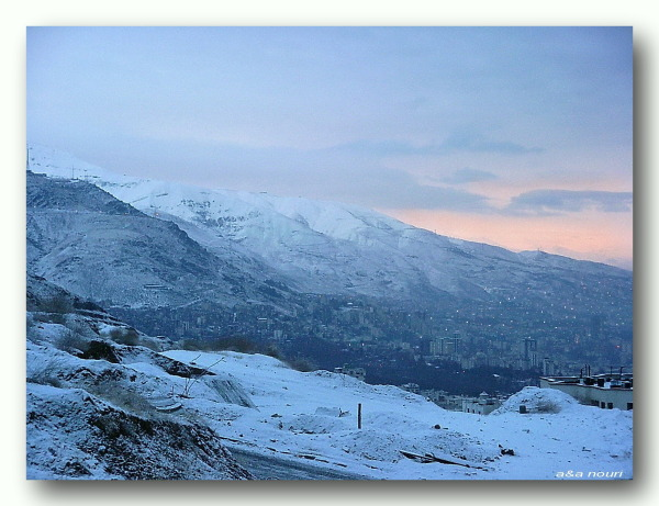 north of  Tehran in a snowy dawn