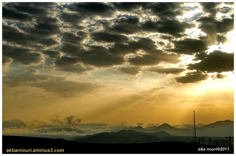 a magic sunrise in road to firuzkooh