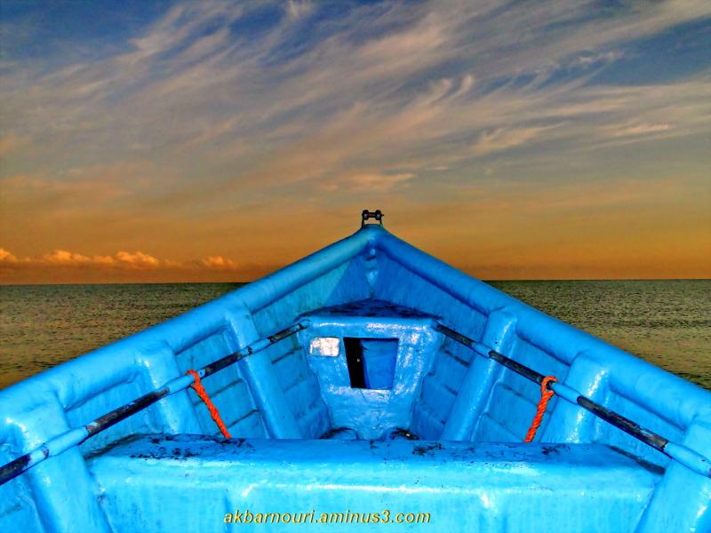 inside the boat in Caspian sea