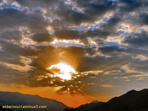 a magic sunrise