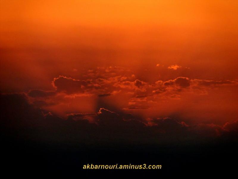 divergent sunset rays