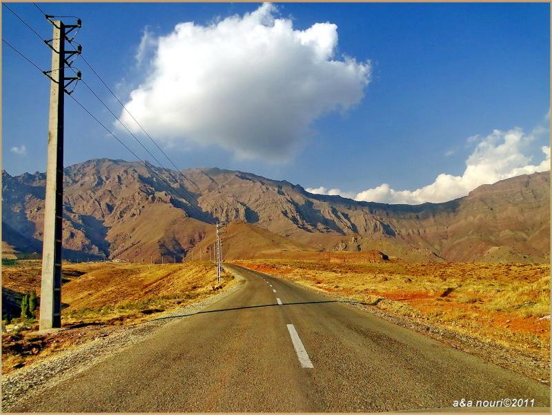 road to Rahat abad,lavasan,Iran