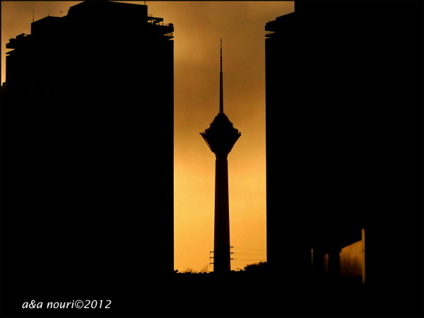 Milad tower view from yousefabad