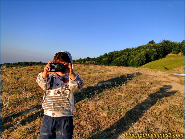 my little photographer!
