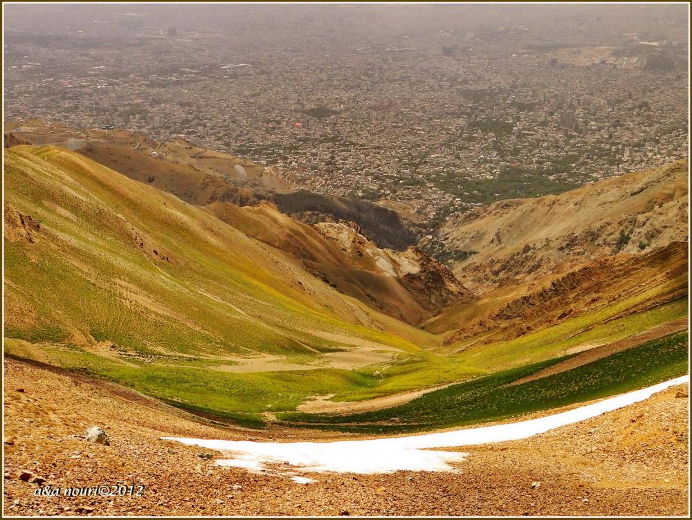Tehran view from 3700 meters high