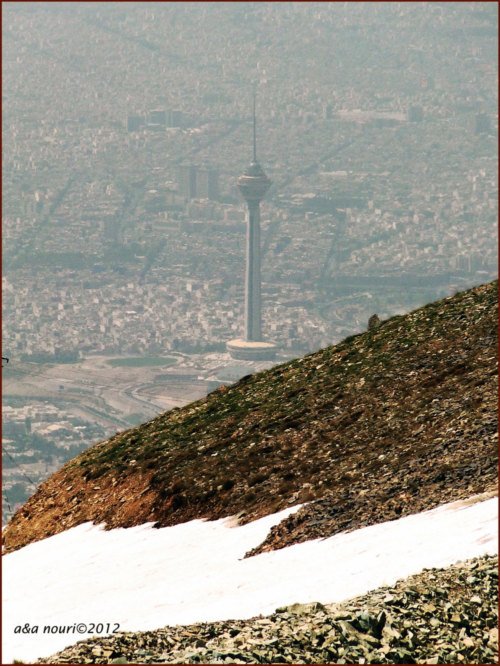 Milad tower from 3700 meters high