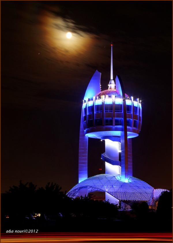 tower in moonlight